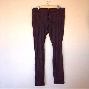 Red Jessica Simpson skinny jeans